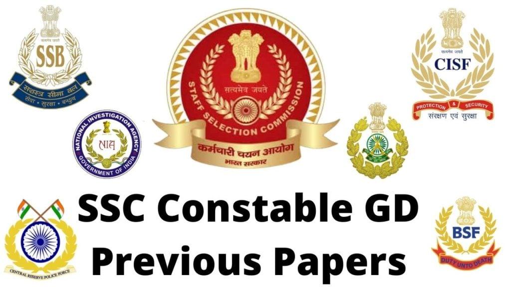 SSC GD Previous Year Question Paper - GovtJobsAlert.In