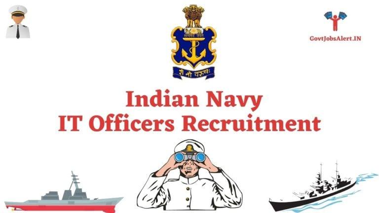Indian Navy IT Officer Recruitment
