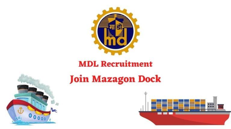 MDL Recruitment - Join Mazagon dock