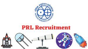 PRL Recruitment Notification