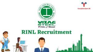 RINL Recruitment - Vizag Steel Plant