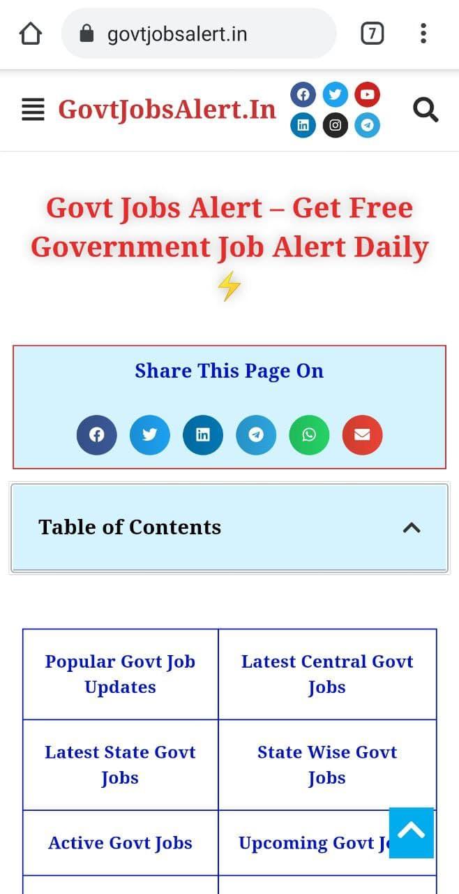 Step 1 - Visit Govt Jobs Alert Through Chrome
