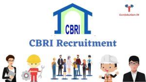 CBRI Recruitment