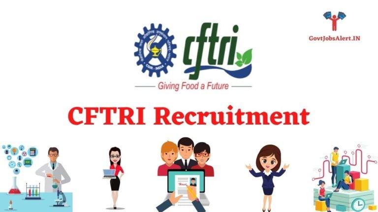 CFTRI Recruitment