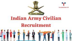 Indian Army Civilian Recruitment
