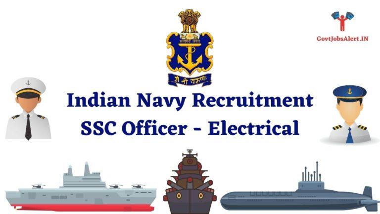 Indian Navy SSC Officer Electrical Recruitment