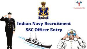 Indian Navy Recruitment SSC Entry